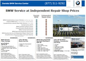 BMW Service Microsite