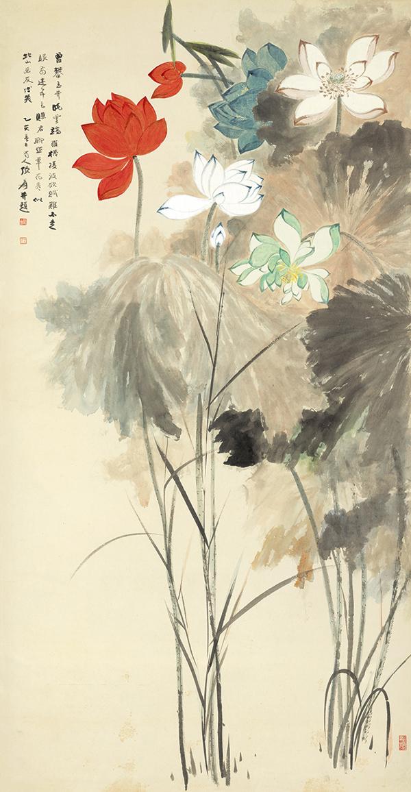 Zhang Daqian 'Lotos en cinco colores'