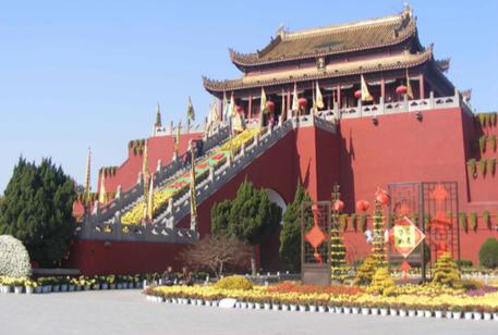Pabellón del Dragón en Kaifen en China.