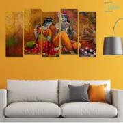 Radha-krishna split painting