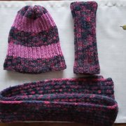 a hat, a scarf and handwarmers