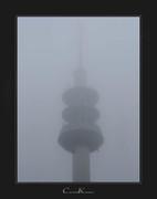 Foggy Telecommunication Tower