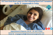 US Teen Gets New Lease on Life Following Stem Cell Transplant By Dr. P. Jagannath In India
