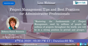 Project Management Tips and Best Practices for Administrative Professionals