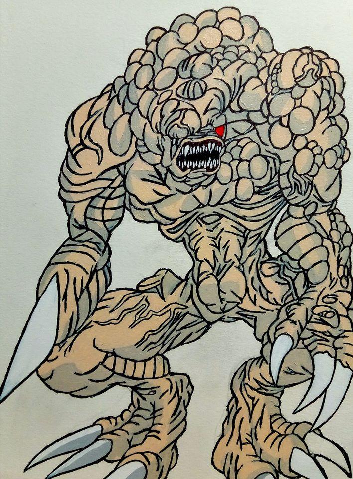 Mutanted Monster from Resident Evil