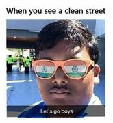 When they see a clean street