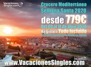 Crucero Mediterráneo Semana Santa 2020