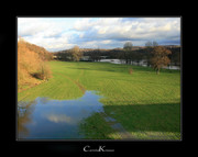 Wintry Flood of River Ruhr