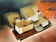Rietveld Maquette, schetsontwerp voor Museum De Zonnehof,  Amersfoort