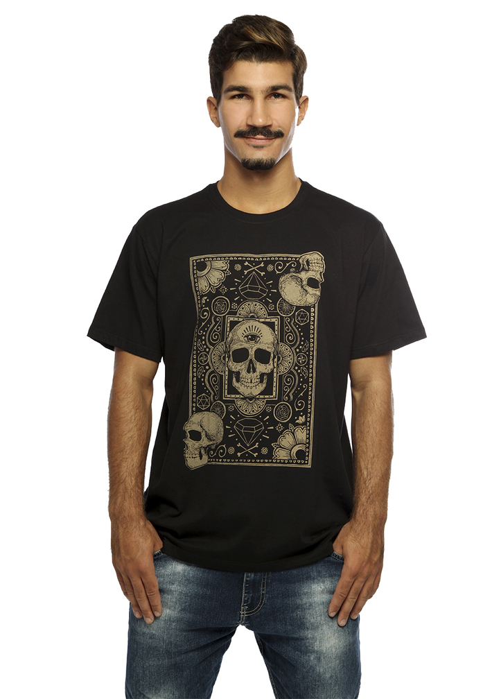 camiseta cards of skull hardivision