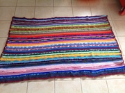 Blanket. One piece knitted