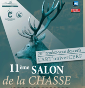 11ème salon de la chasse « 20ème Rendez-vous des cerfs – L'ART'nniverCERF »