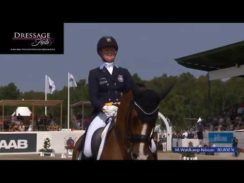 Grand Prix Dressage Freestyle Eddieni & Malin Wahlkamp-Nilsson 77%