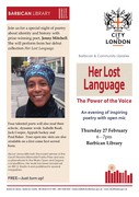 Her Lost Languange - Poetry event