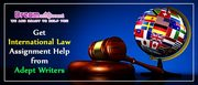 Get International Law Assignment Help from Adept Writers