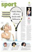 Nadal, Halep roll on as shocks rattle Melbourne