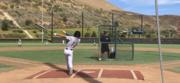 Carter Winkler hitting