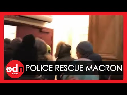 Police Forced to Rescue President Macron After French Protesters Storm Paris Theatre