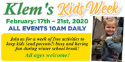 February Vacation Kids Week Activities