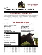 Wartrace Horse Stables Higgins Road Brochure