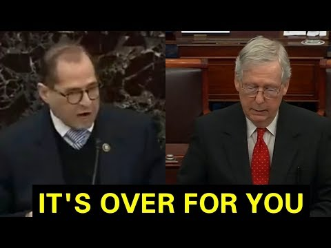"""WE ARE TOSSING THIS IMPEACHMENT"" MITCH MCCONNELL GETS UP AND RIPS JERRY NADLER TO SHREDS"