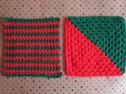Christmas Stripes and Diagonal