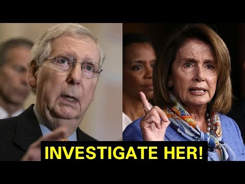 """IT'S OVER FOR YOU"" MITCH MCCONNELL GETS UP AND RIPS NANCY PELOSI"