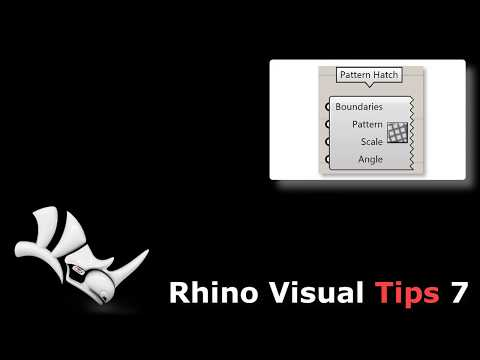 Rhino 7 with the new Hatch Pattern component in Grasshopper