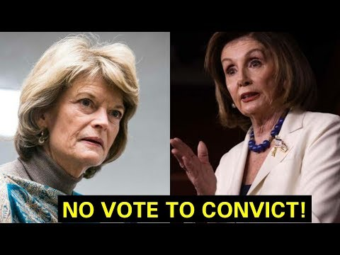 """NO VOTE TO CONVICT"" SENATOR LISA MURKOWSKI GETS UP AND RIPS NANCY PELOSI ON SENATE IMPEACHMENT"