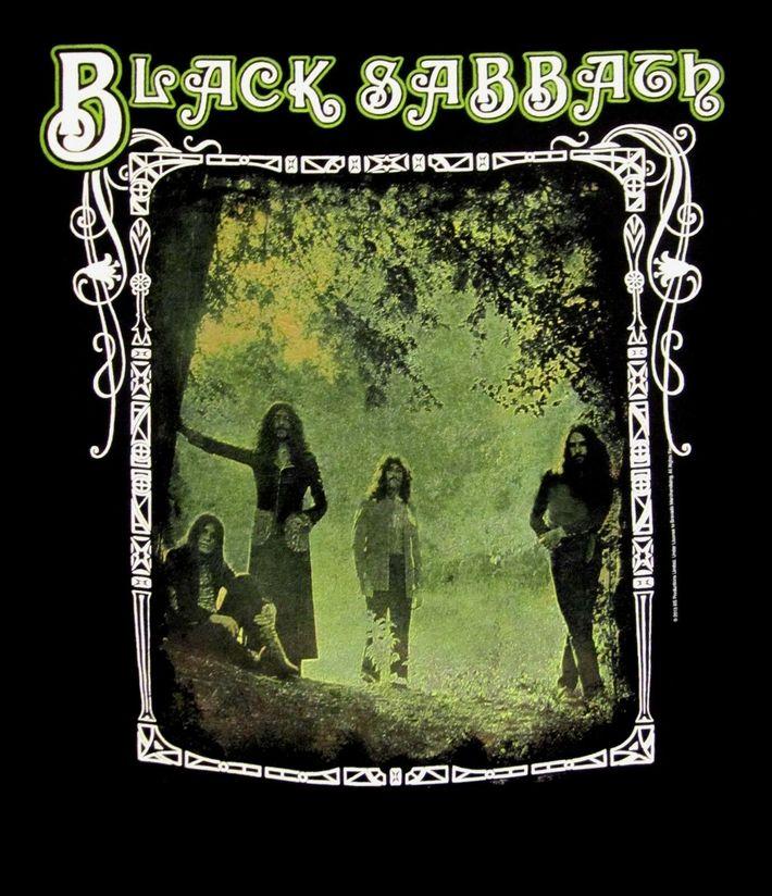 Black Sabbath Trees Photo Framed T Shirt