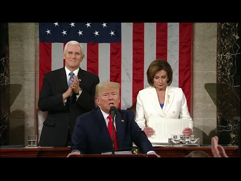 WATCH: Pelosi rips up Trump's State of the Union speech   2020 State of the Union