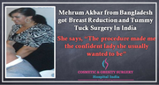 Perfectly Perky Breast With Flat Tummy Mehrum's Story of Double Cosmetic Surgery Treatment in India