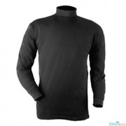 Black Fitted Turtleneck Top For Firemen