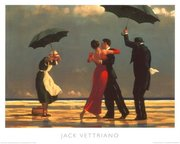 The Singing Butler Jack Vettriano Umbrella Love Dancing Beach Rain