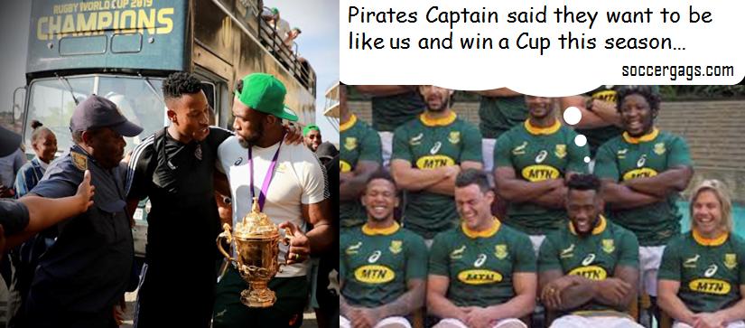 Pirates want to emulate Springboks