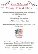 Village Fete Meeting CANCELLED