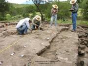 Excavaciones en el sitio La Laguna, Tlaxcala.