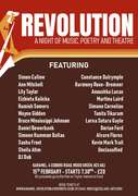 Revolution - A night of Music, Poetry and Theatre