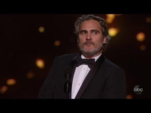 Joaquin Phoenix Speaks on Racism During 'Joker' Academy Award Speech