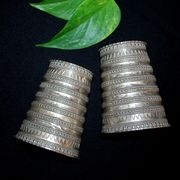Silver Cuff Pair - India - Rajasthan?
