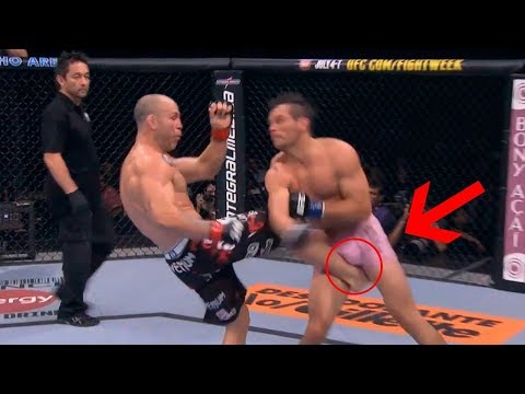 Brutal Kicks to the Groin in MMA