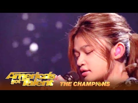 BUZZEZEVIDEO ANGELICA HALE FANS A.G.T. THE CHAMPIONS FINAL IMPOSSIBLE
