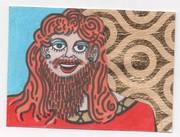 bearded lady atc