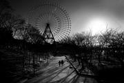 Scenery with Ferris wheel