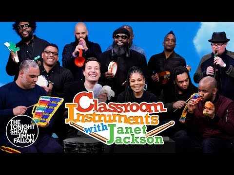 "Jimmy Fallon, Janet Jackson & The Roots Sing ""Runaway"" (Classroom Instruments)"