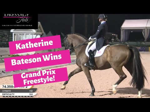 Katherine Bateson Chandler & Alcazar Win The Grand Prix Freestyle 76.105%!