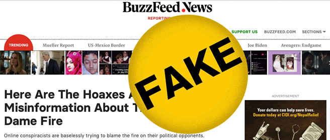 Buzzfeed Example of Fake News