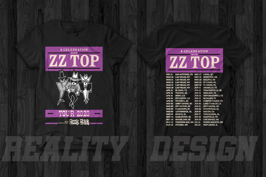 ZZ Top 50th Anniversary Tour 2020 T Shirt
