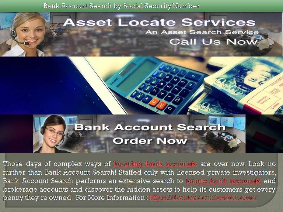 Bank Account Search by Social Security Number