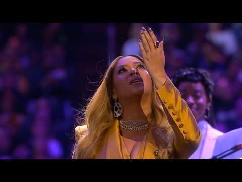 Beyonce's tribute to Kobe and Gianna at the Staples Center